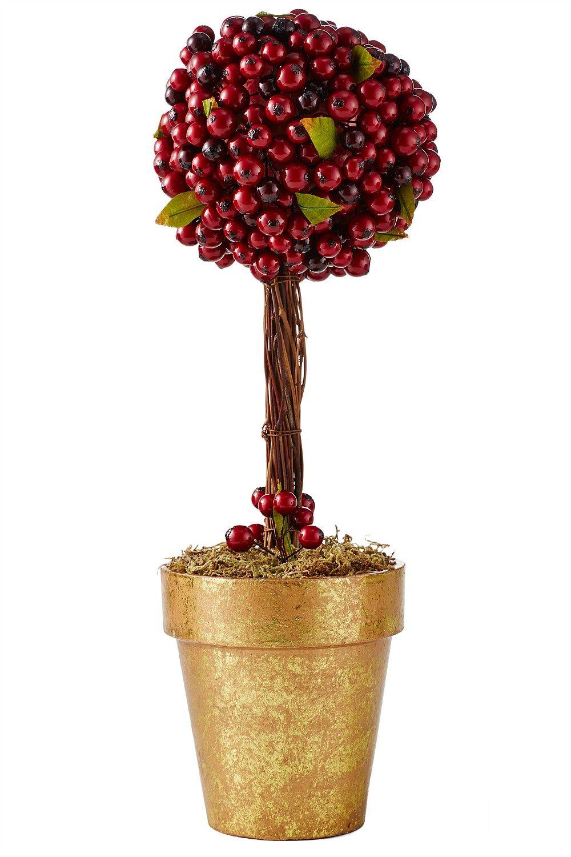 EziBuy Christmas Shop Red Berry Vase Decoration EziBuy