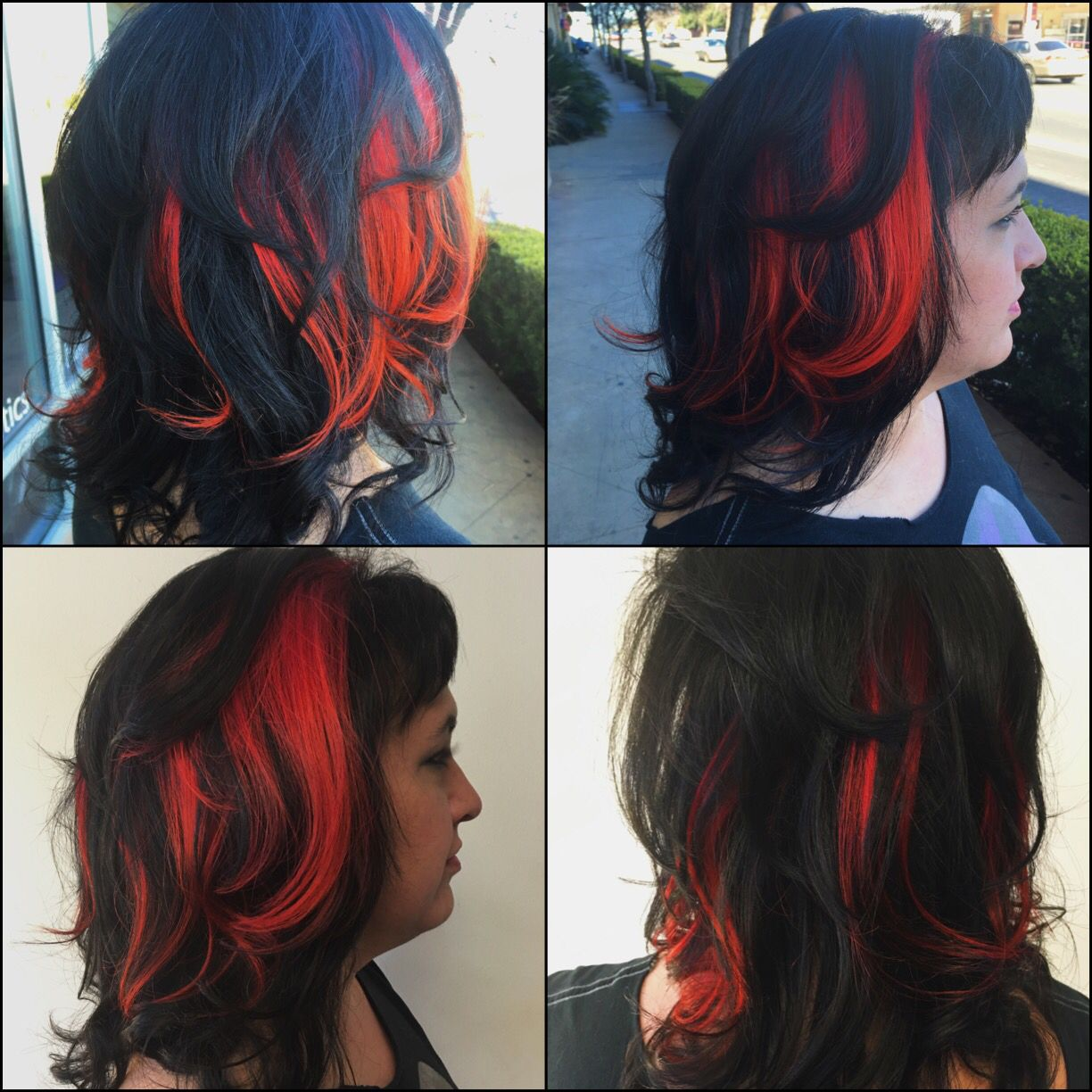 Fire Peek A Boo Hair Red Yellow And Orange Hair By Tierney Marie