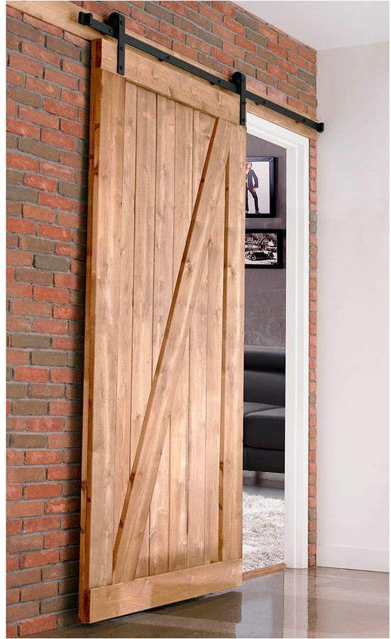 Merry Product Farm Style Sliding Door Unfinished Wood Doors Interior Barn Door Designs Sliding Doors Interior