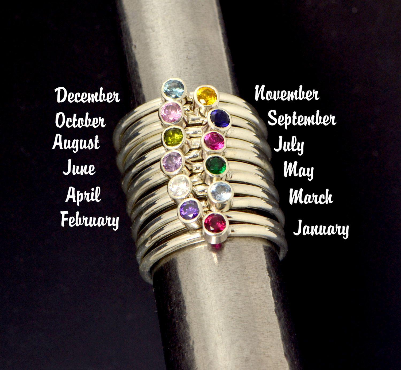 SALE Birthstone Ring  Gemstone Ring  by TheJewelryGirlsPlace,