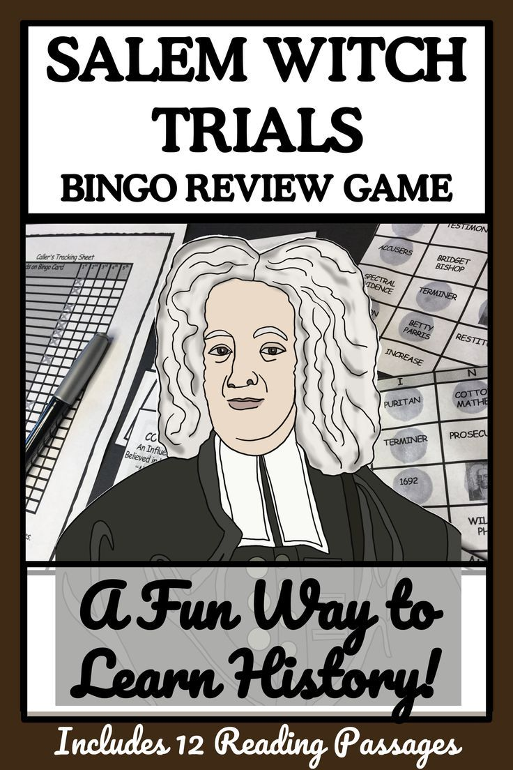SALEM WITCH TRIALS Reading Passages and Bingo Reading