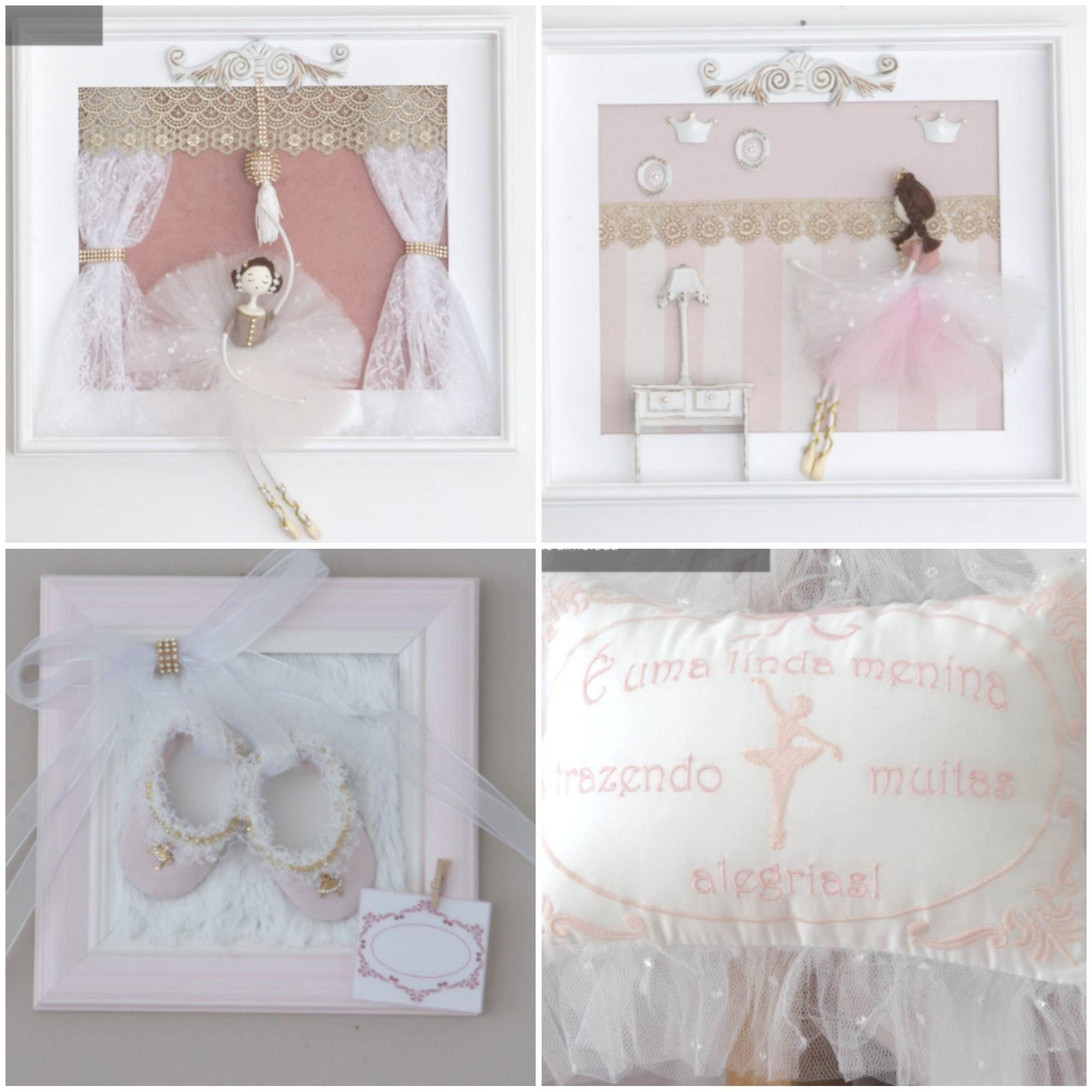 A Cole O Anna Ficar Perfeita No Quarto Da Sua Princesa Bailarina  ~ Como Fazer Quadros Decorativos Para Quarto De Bebe