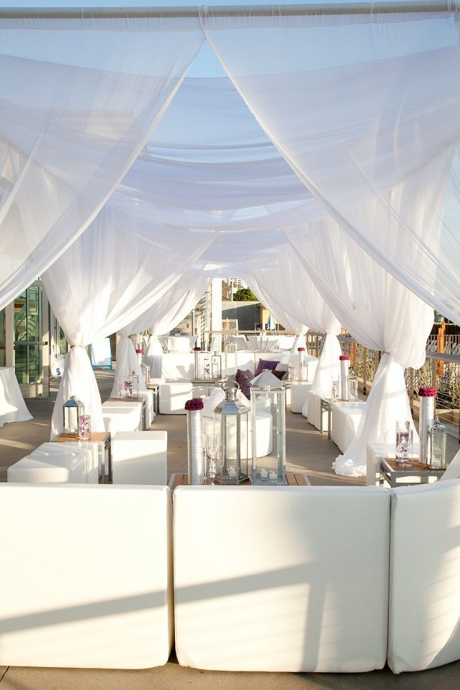 All white party ideas all white lounge wedding for Summer white party ideas