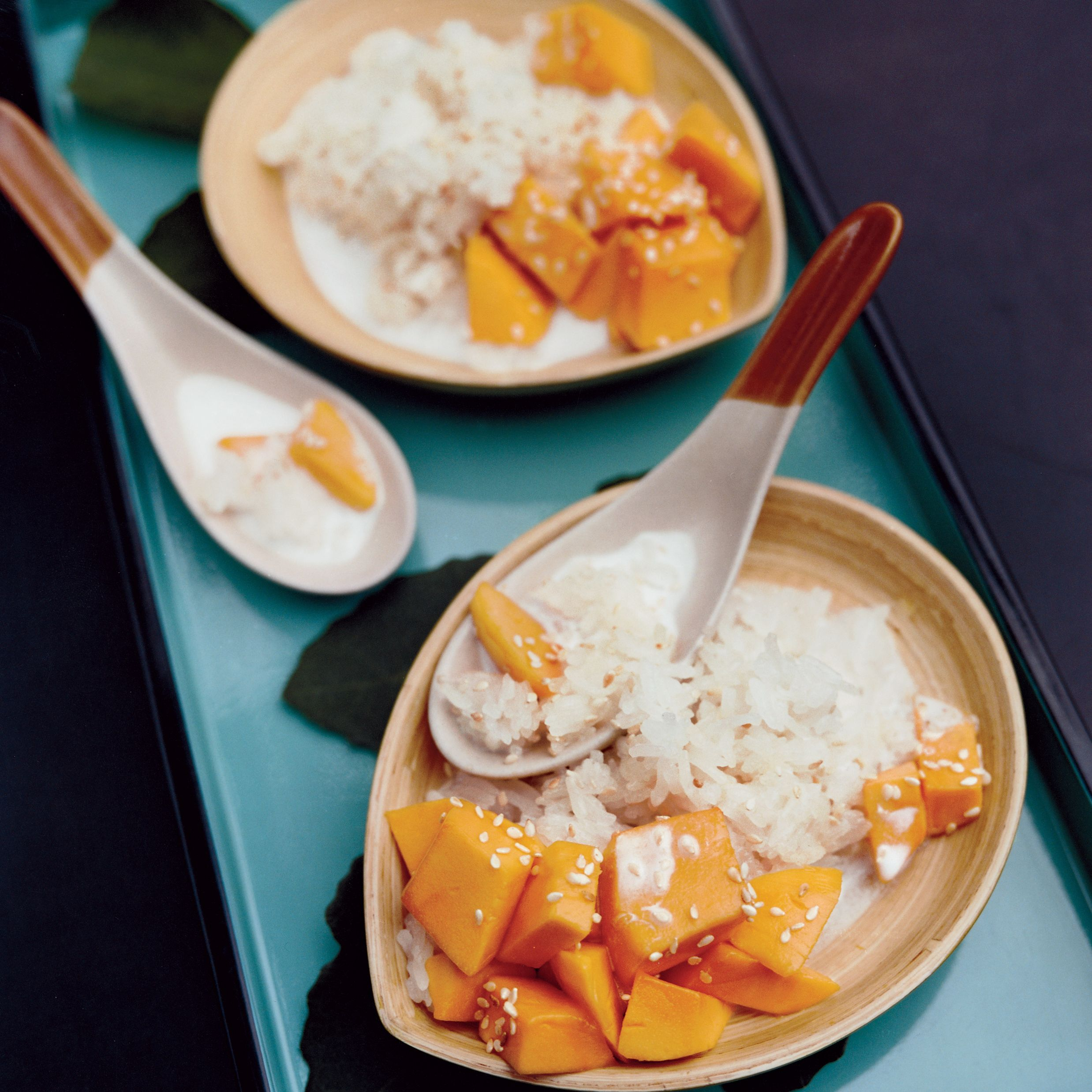 Sweet Sticky Rice with Mangoes and Sesame Seeds | Recipe ...