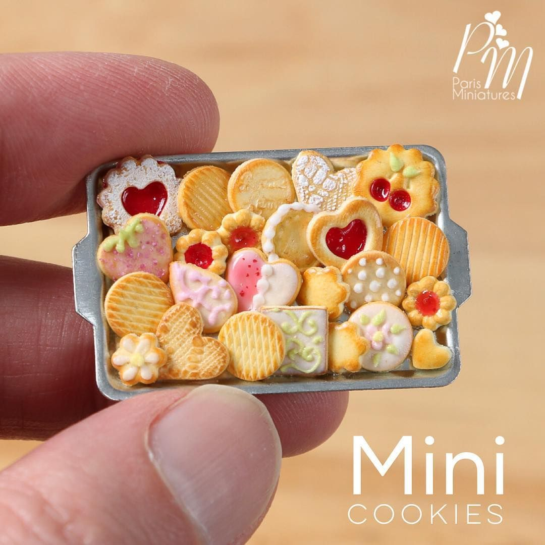 Two Bags of Realistic Tiny Cookies Miniature Food 1:12 Scale Dollhouse