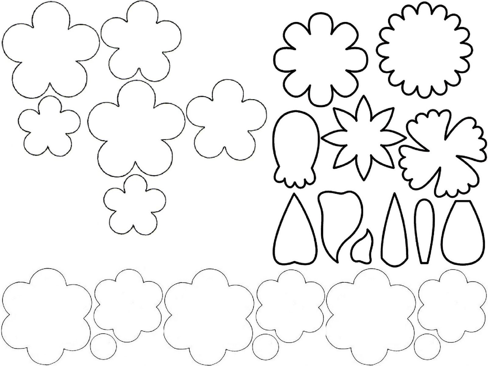 Flower Template For Cut Out Step 3 Cut Out Templates Trace Onto