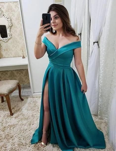 Off the Shoulder Long Prom Dress With Slit Custom-made School Dance Dress Fashion Graduation Party Dress YDP0464 #promdresscasual #schooldancedresses Off the Shoulder Long Prom Dress With Slit Custom-made School Dance Dress Fashion Graduation Party Dress YDP0464 #promdresscasual #schooldancedresses