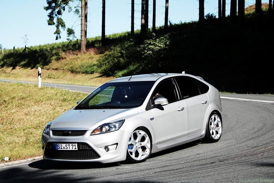 Ford Focus St Mk2 Low Silver Car With Xenon And Big Rims Ford