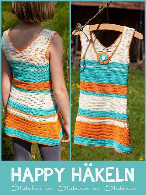 DIY crochet dress for girls...WOHN:PROJEKT...selbst gemachtes ...