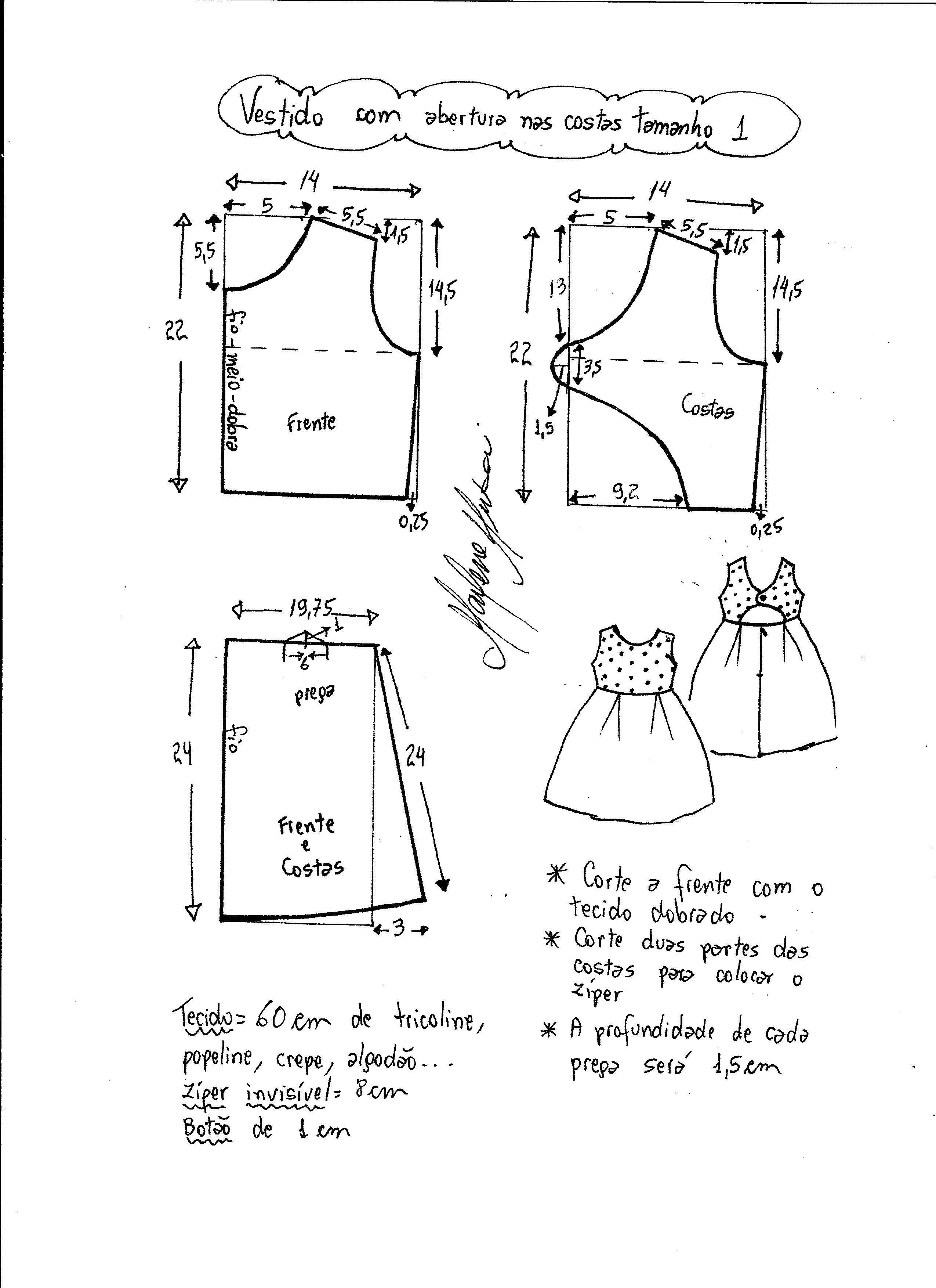 Vestido con la espalda abierta | Patrones Alta costura | Pinterest ...