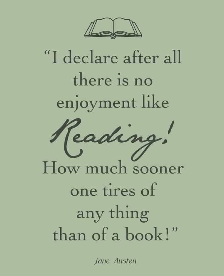 Image result for reading a book quote jane austen