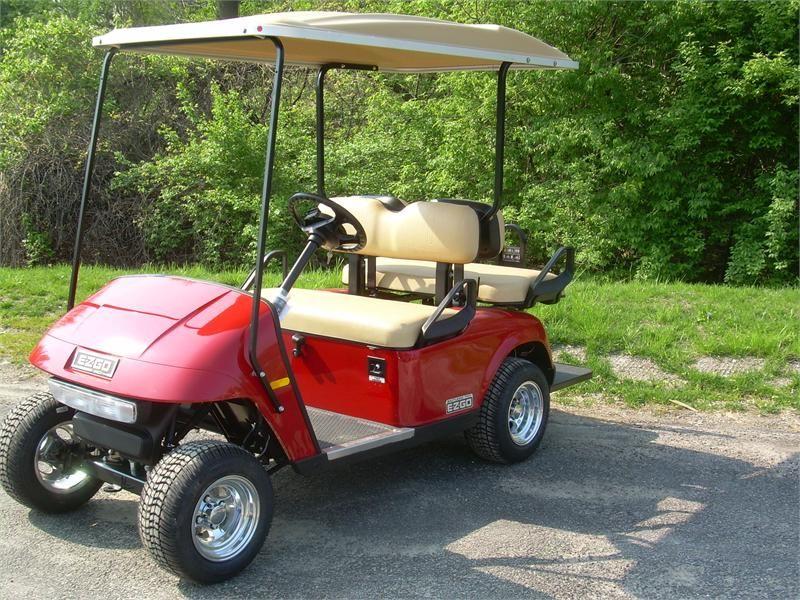 2017 Ez Go Txt 48 Volt Electric Golf Cart 4 Penger Rear Flip Seat Alloy Wheels Light Bar Tail Lights Long Sun Top And Charger