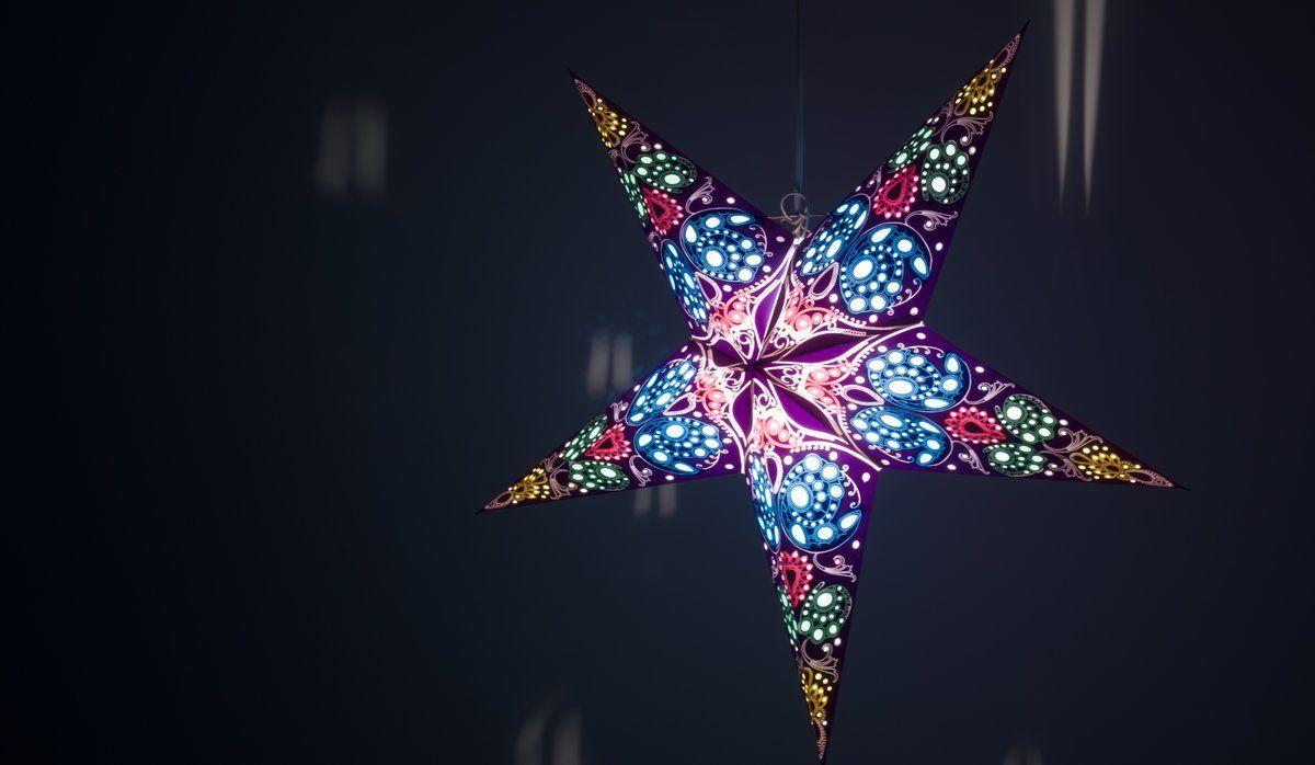 Damask Cobalt Blue Paper Star Lampshades Decorations Paper
