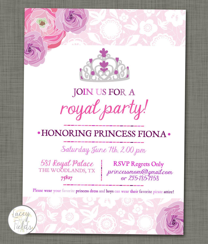 Princess birthday party printable- royal birthday party- princess ...