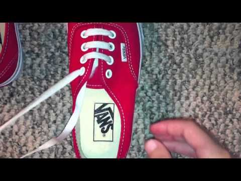 0806862cd9ca How to straight lace (bar lace) vans with 4 holes - YouTube