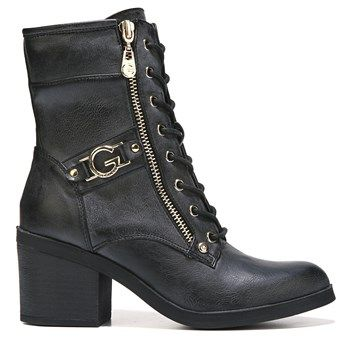 Womens G BY GUESS Anisoni Lace Up Boot Black