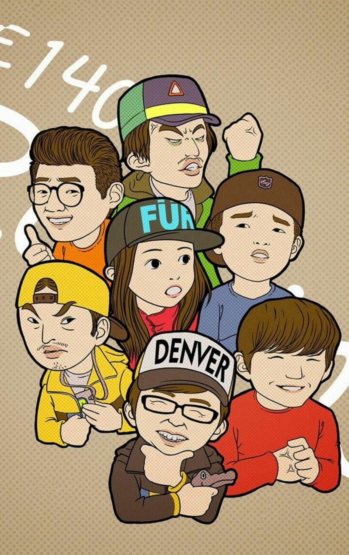 Running Man Cartoon Wallpapers For IPhone And Plus