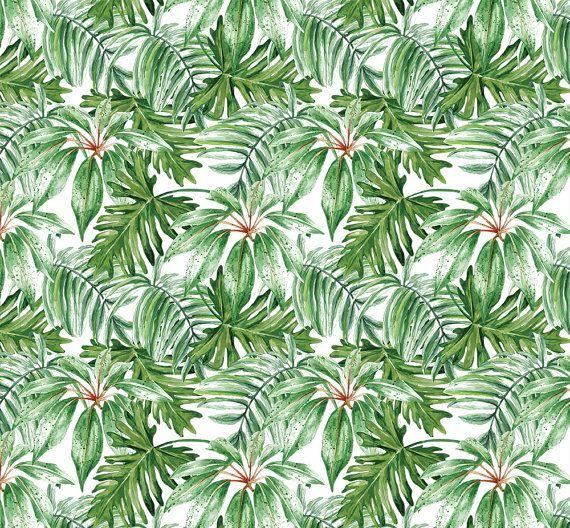 368 Best Images About Wallpaper On Pinterest: Bananenblatt Großes Wandbild Wandbild Aquarell Von