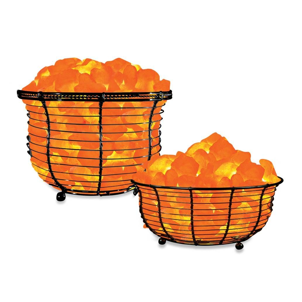 Salt Lamp Bed Bath Beyond Product Image For Himalayan Glow® Ionic Crystal Salt Basket Lamp
