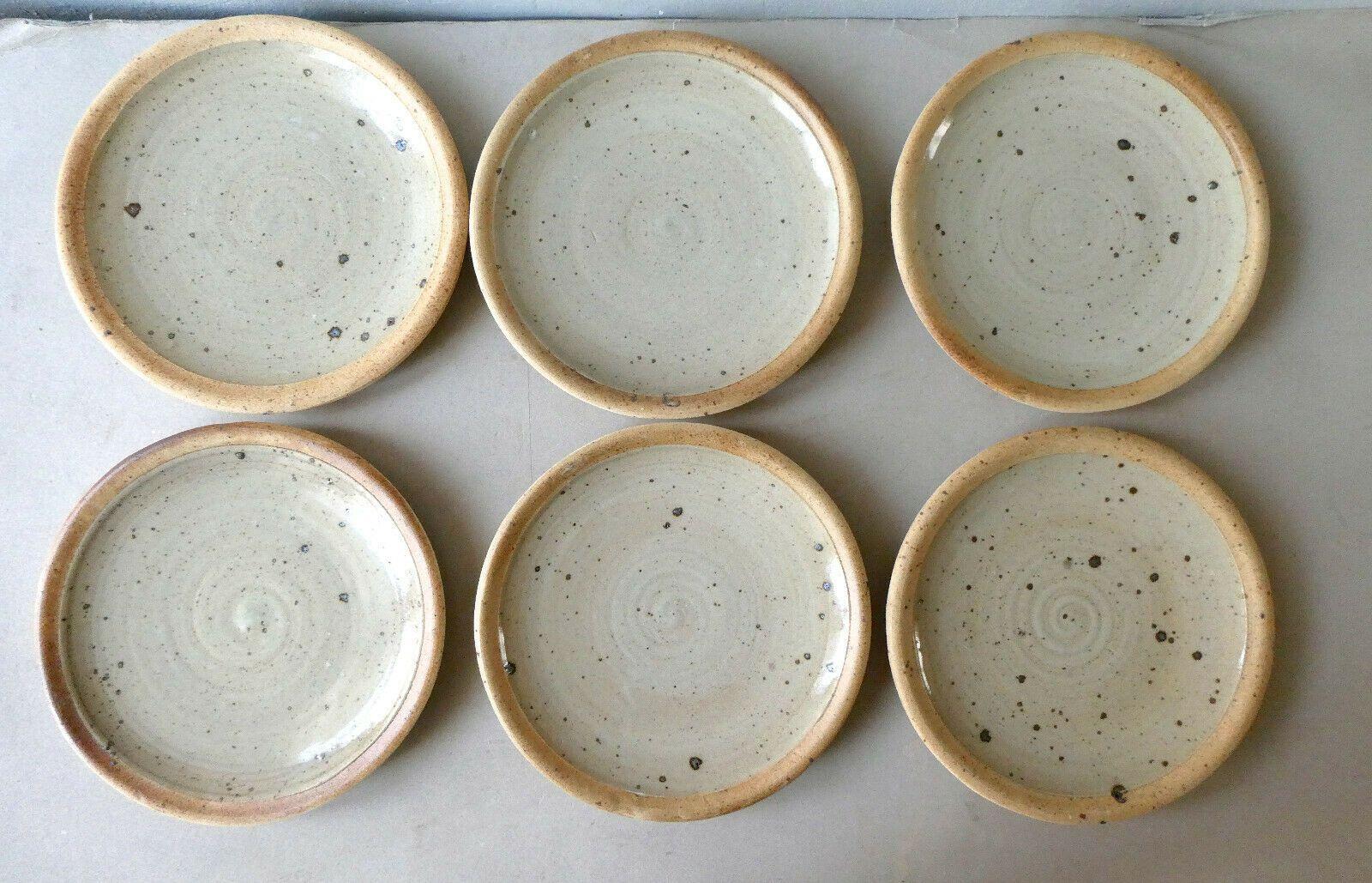 Details Sur 6 Assiettes Plates En Gres Pyrite De Pierre Digan La