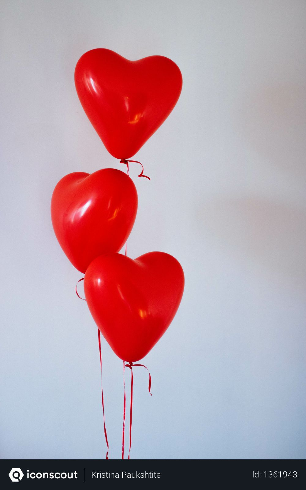 Free Three Red Heart Balloons Photo in 2019 Home
