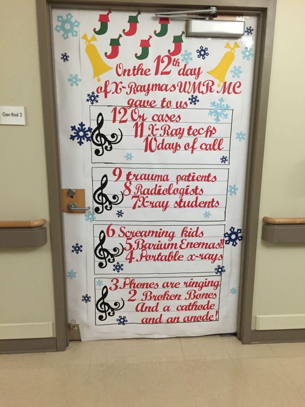Christmas Door Contest For The Hospital Christmas Door