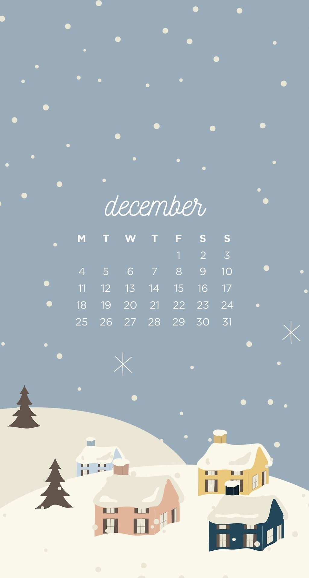emma's studyblr — December Christmas Town Phone Wallpapers Here are...
