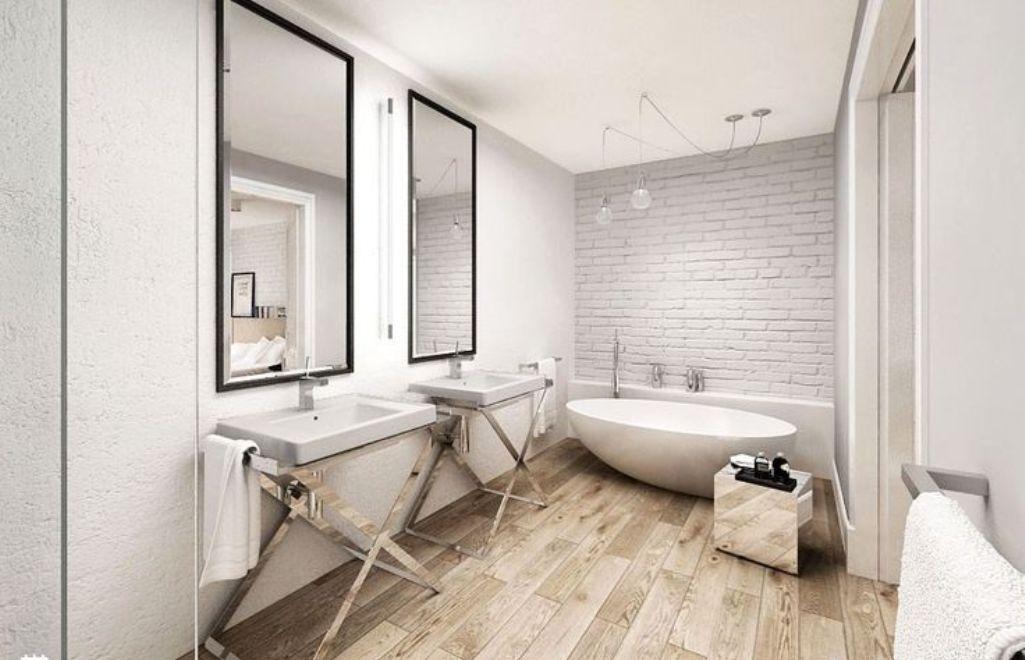 Wooden Floor In 20 Natural Bathroom Designs Rilane We Aspire To Inspire Wood Floor Bathroom Modern Bathroom Design Modern Bathroom