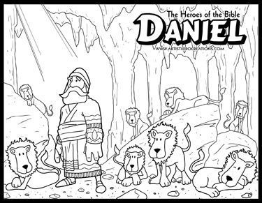 The Heroes Of Bible Coloring Pages Daniel