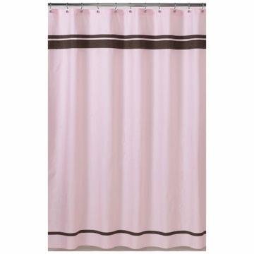 Sweet JoJo Designs Hotel Pink & Brown Shower Curtain | Pink brown