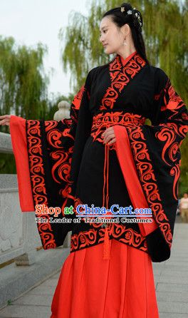 Top Chinese Han Dynasty Beauty Princess Wedding Hanfu Clothing Chinese  Hanfu Costume Hanfu Dress Ancient Chinese Costumes and Hair Jewelry  Complete Set for ... eedcc371d