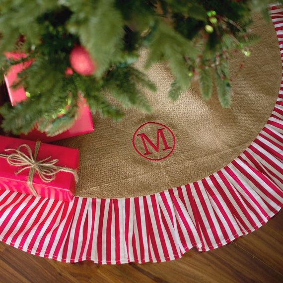 Custom Personalized Tree Skirt Monogram By SKVillageGiftbox