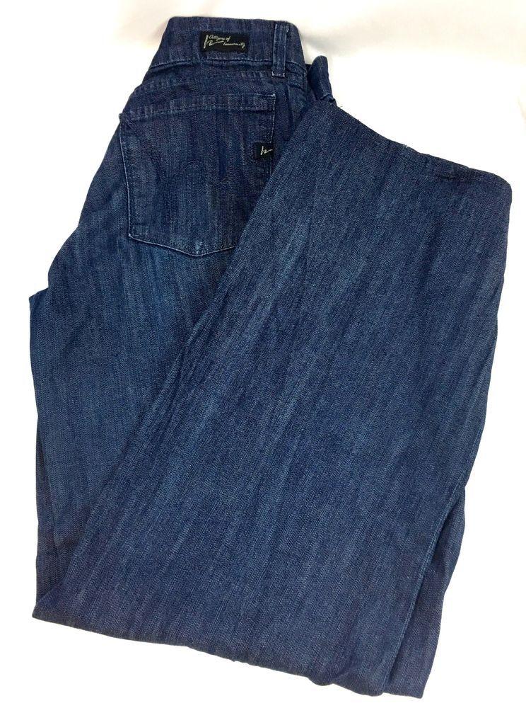 f464b2ad57c Citizens of Humanity Womens Jeans Birkin Stretch 186 Low Waist Wide Leg  Size 30 #CitizensofHumanity #WideLeg