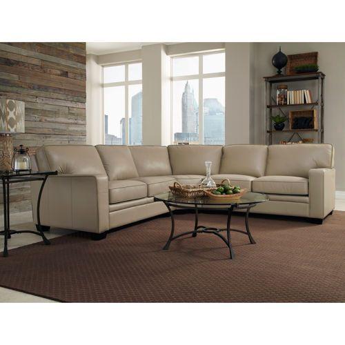 Benaroya Taupe Top Grain Leather Sectional  Leather FurnitureLeather  SectionalsLiving Room FurnitureLiving RoomsLeatherFamily. Benaroya Taupe Top Grain Leather Sectional   Mid century modern