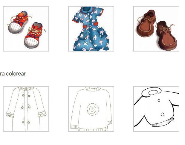 La ropa. Imagenes a color y algunas para colorear. | mural estiu ...