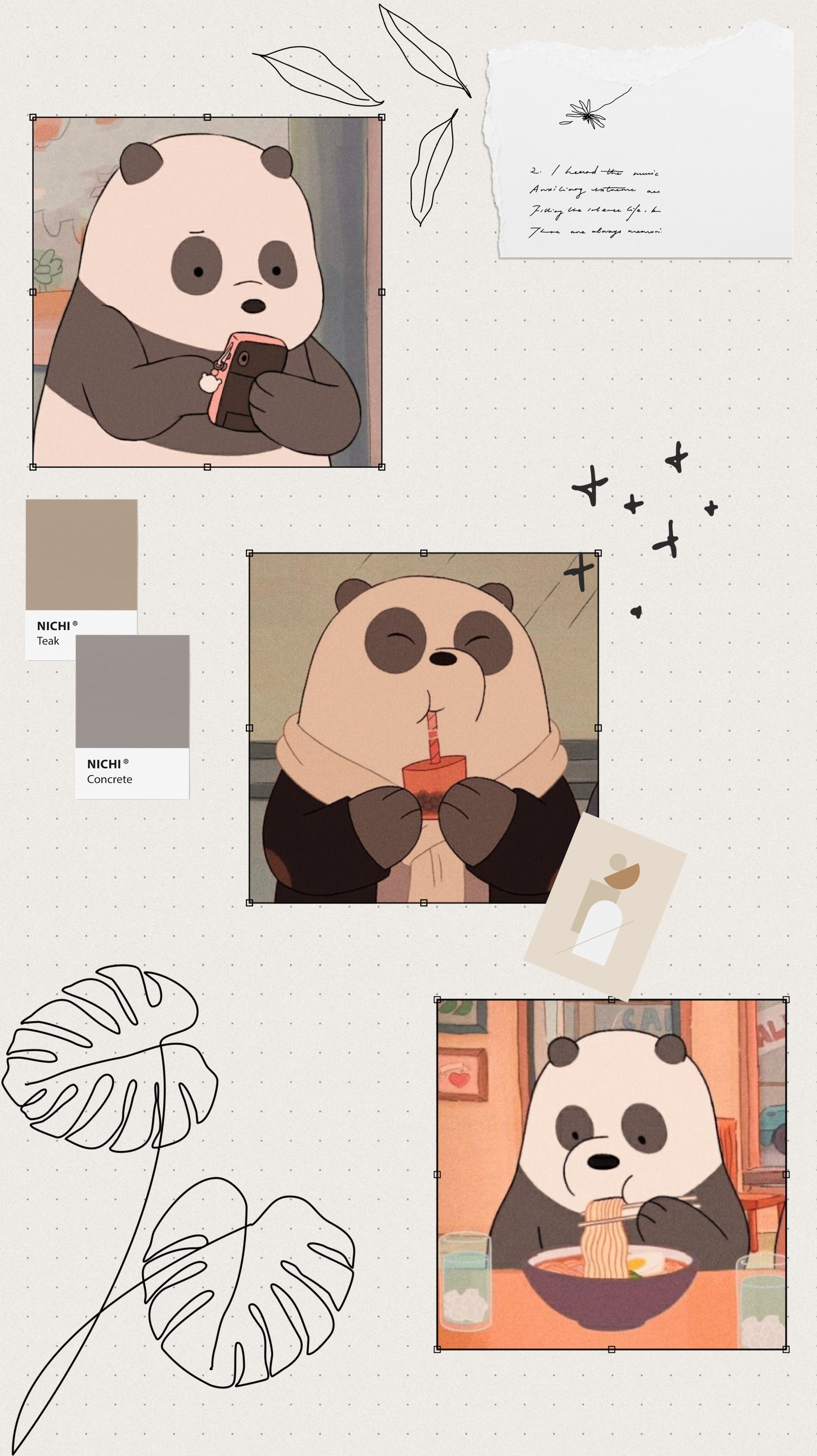 My Instagram Story Quotes Cartoon We Bare Bears Panda Mad Quotes
