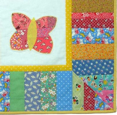 Free Baby Quilt Patterns for Boys and Girls | butterfly girl quilt ... : butterfly baby quilt pattern - Adamdwight.com