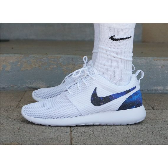san francisco 55cd5 7fd71 New Nike Roshe Run Custom Blue Purple Black Galaxy Edition ...