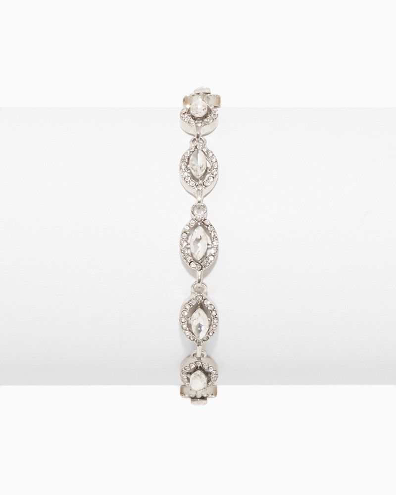 Marquise Halo Bracelet Charming Charlie Wedding jewelry