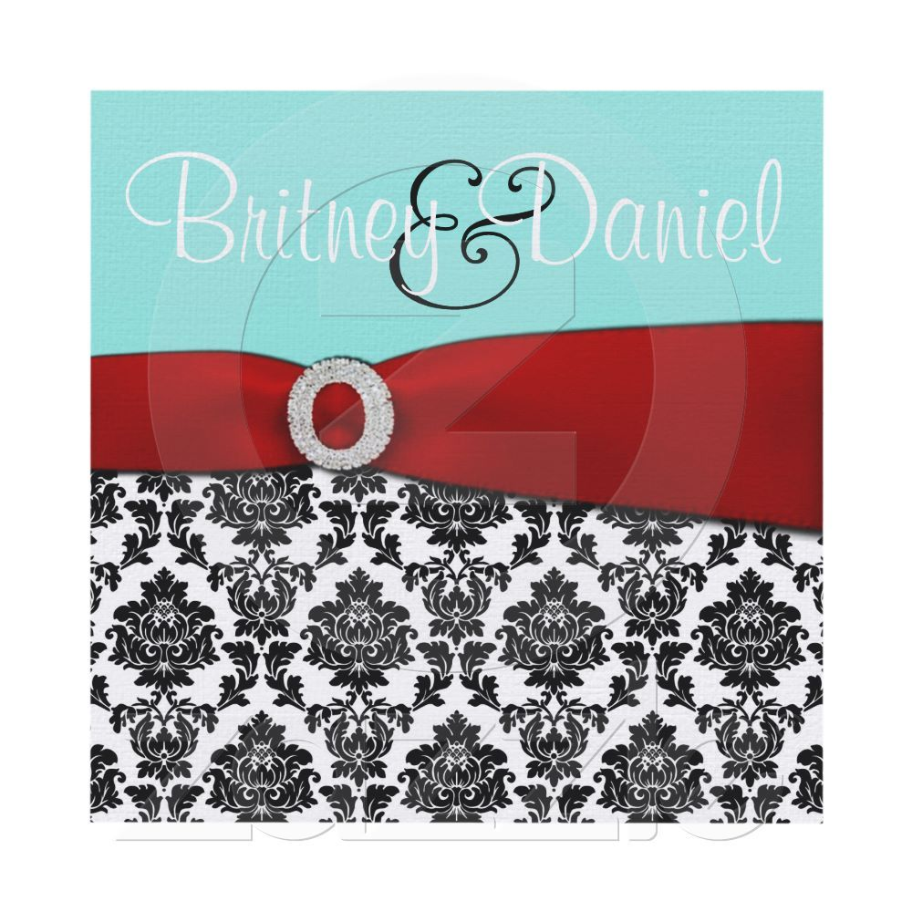 Tiffany Blue and Red Wedding Invitations from Zazzle.com | My ...