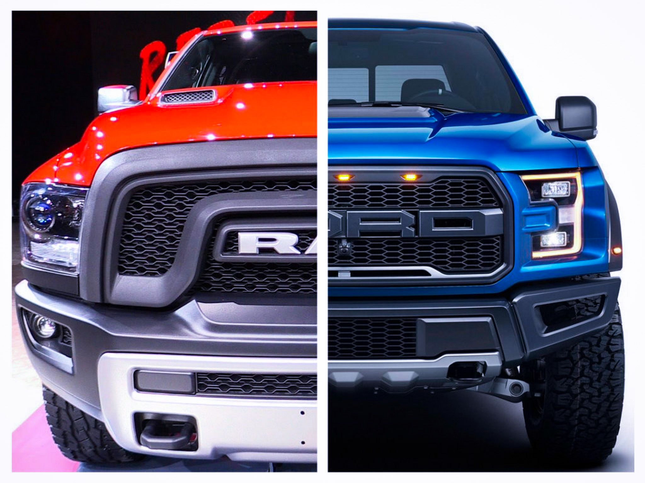 2017 ford f 150 raptor vs 2016 ram 1500 rebel