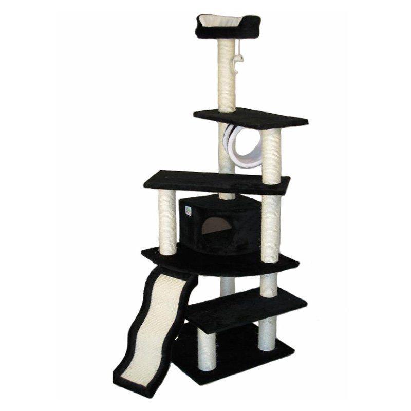Amazing Go Pet Club 70 In Midnight Black Cat Tree F72 F72 Download Free Architecture Designs Scobabritishbridgeorg