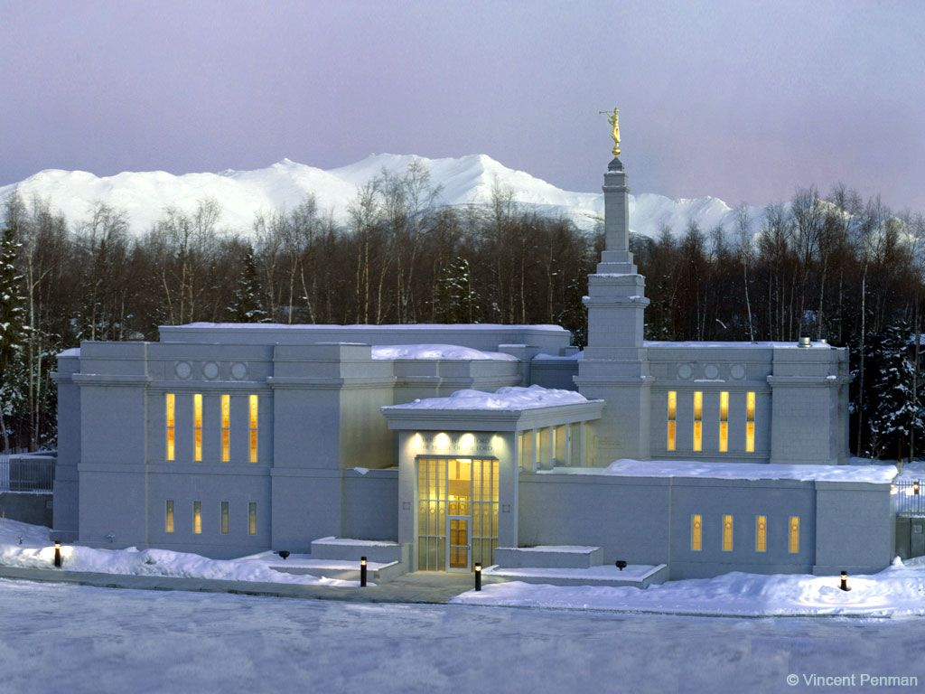 Anchorage Alaska Mormon Temple Just One Of The Many Places We - Map of all lds temples in us