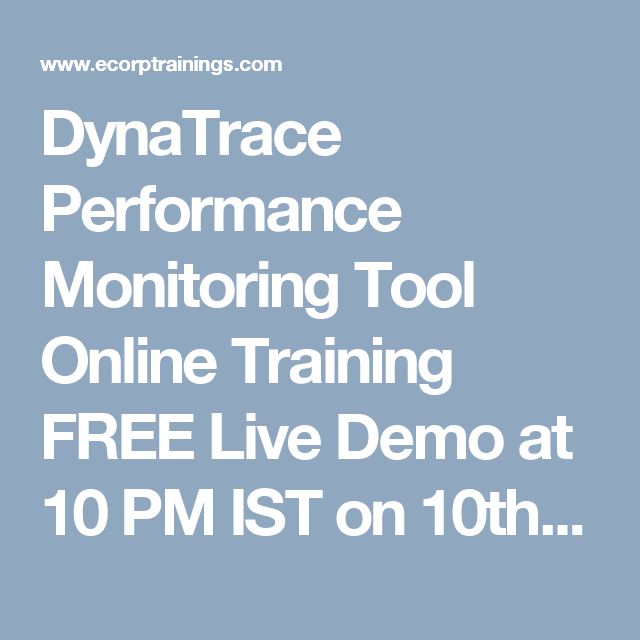 DynaTrace Performance Monitoring Tool Online Training FREE