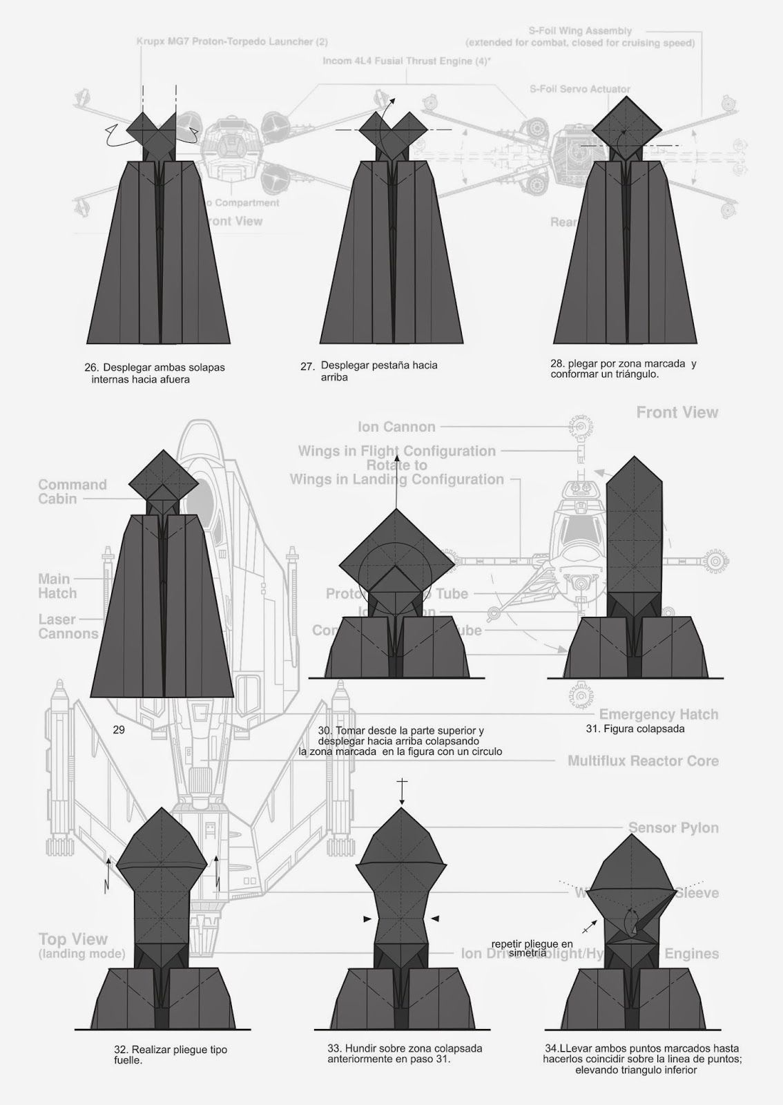 Darth Vader origami diagram | Origami.. | Pinterest | Helado de ...