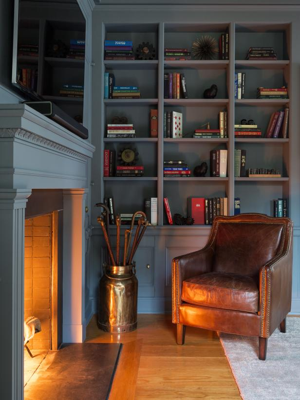 Traditional Home Library Design Ideas: Traditional And Preppy Room Designs