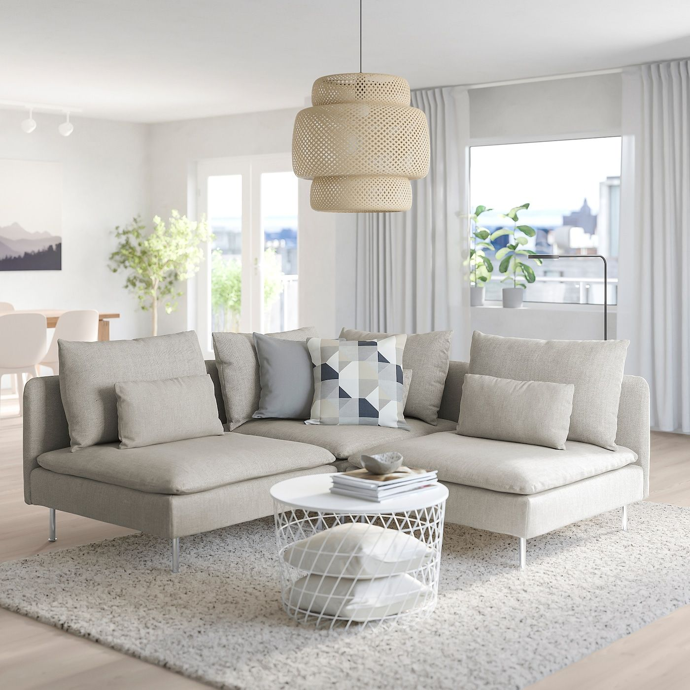Soderhamn Ecksofa 3 Sitzig Viarp Beige Braun Ikea Osterreich In 2020 Sofa Bed With Chaise Cosy Sofa Sofa Back Cushions