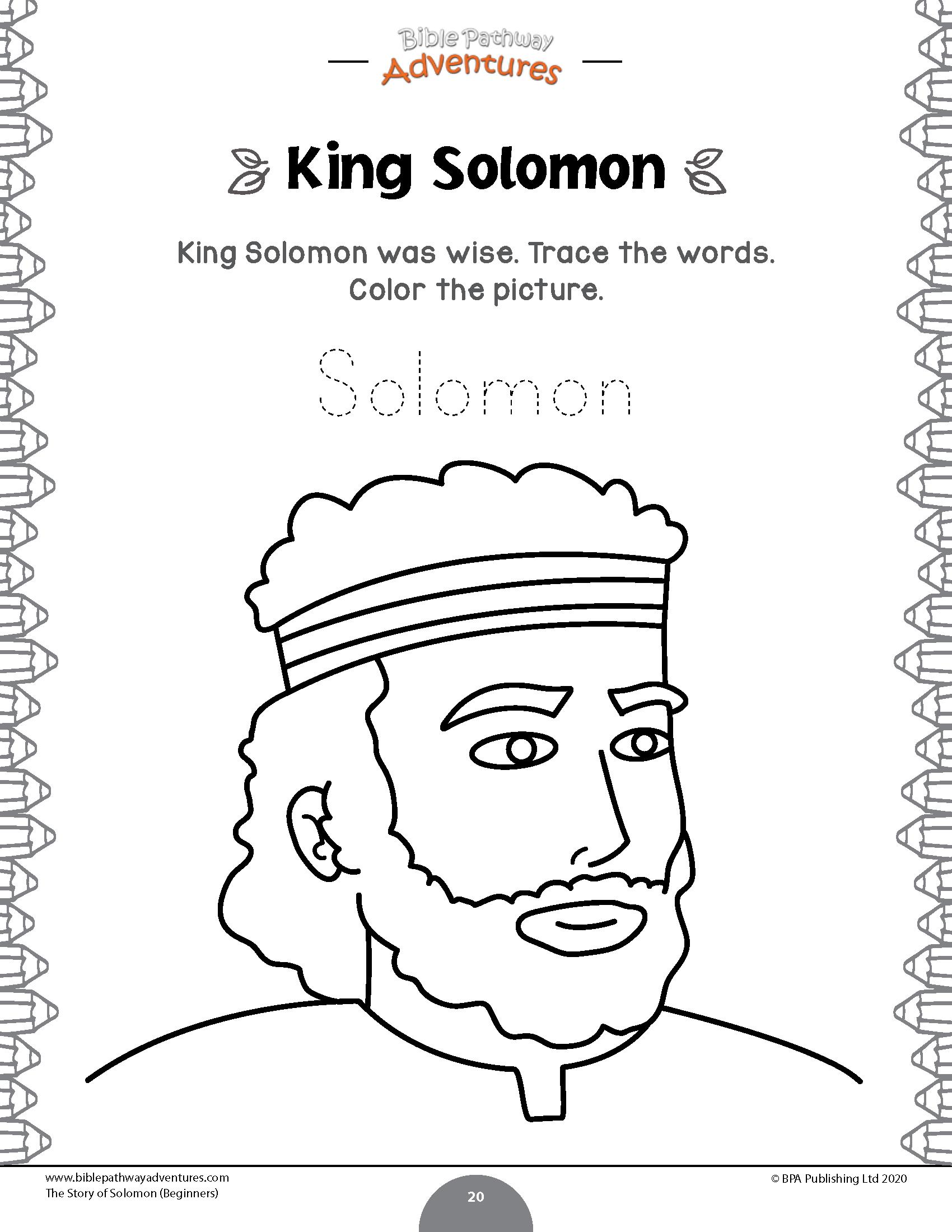 The Story Of Solomon Beginners Bible Pathway Adventures