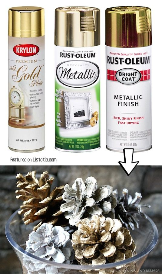 29 Cool Spray Paint Ideas That Will Save You A Ton Of Money Page 6 Of 31 Painted Pinecones