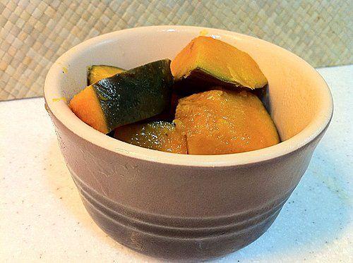 南瓜煮物 (かぼちゃの煮物)(附食譜) | Blog | 鬼嫁料理 材料 ...